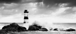 Crashing Waves - B&W Panorama