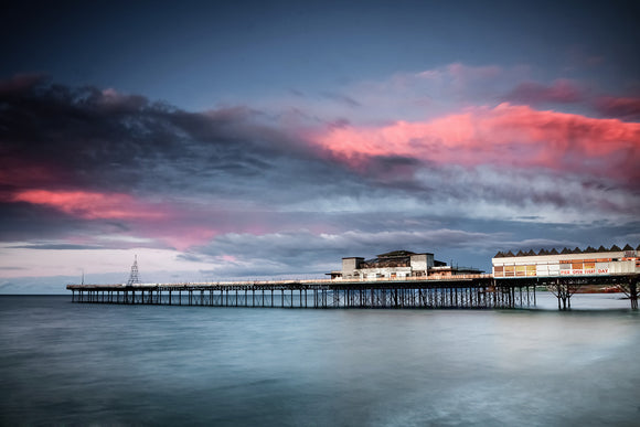 Sunset over Colwyn Bay Pier
