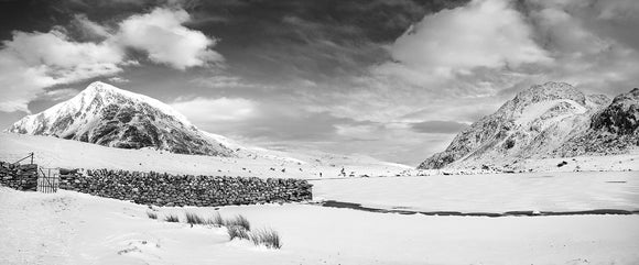 A Winter Wonderland - B&W Panorama