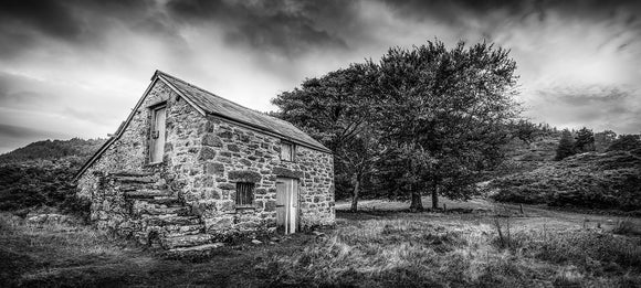The Abandoned Cottage - B&W Panorama