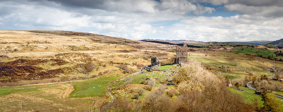 Dolwyddelan Castle Countryside - Panorama