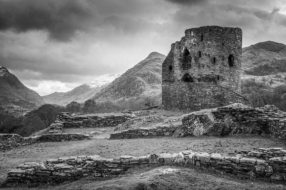 A Castle in the Mountains B&W