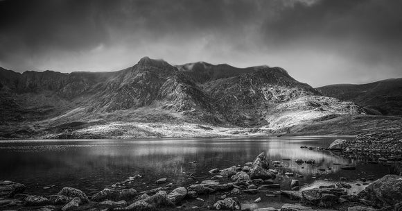 Cwm Idwal Reflections - B&W Panorama