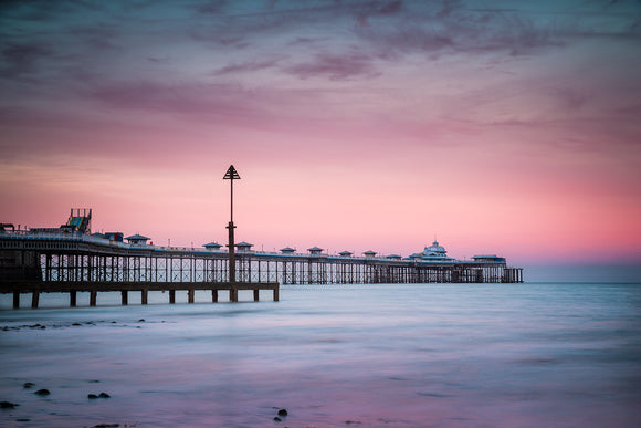 Sunset at Llandudno Pier