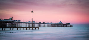 "Sunset at Llandudno Pier - 24x10"" Canvas Wrap"
