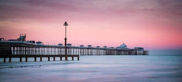 Sunset at Llandudno Pier - 24x10