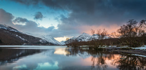 Sunset Reflections Llyn Padarn - Panorama