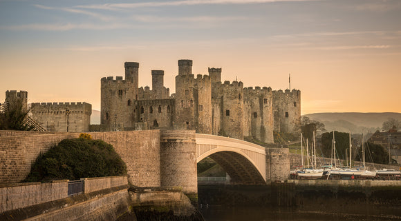 Conwy Castle Sunset - Panorama