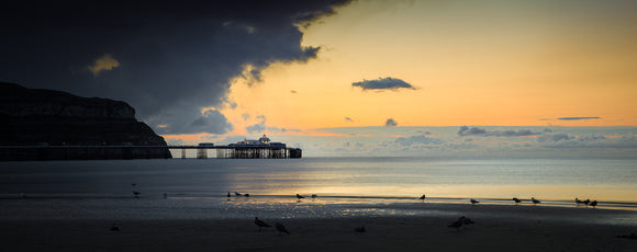 Calm Before the Storm, Llandudno Pier - Panorama