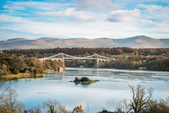 Blue Sky at Menai Bridge
