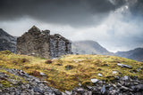 Dinorwic Quarry - A stormy day in Snowdonia National Park with the grey sky above imitating the slate colour below