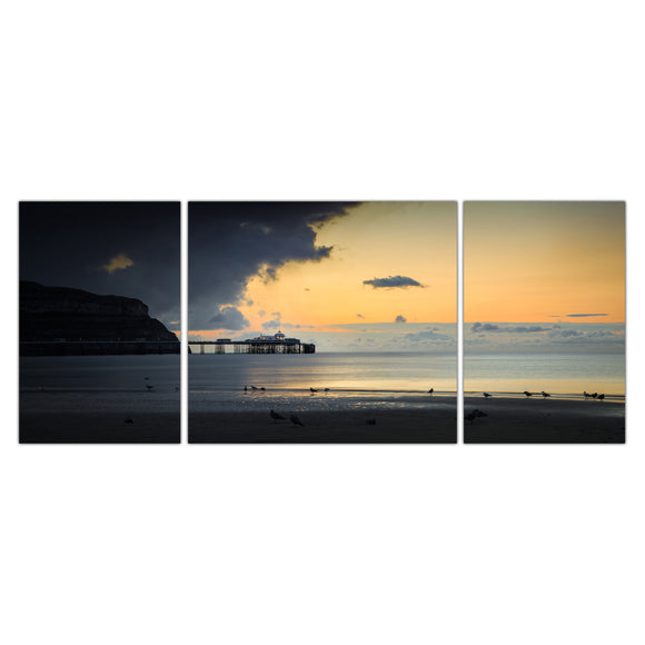 Calm Before the Storm - Panoramic Canvas Wrap Triptych