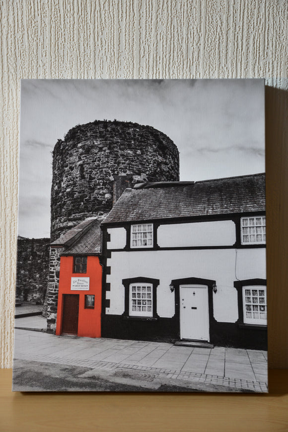 The Smallest House in Great Britain, can be found on Conwy Quay in North Wales. This is has been converted to Black & White, but the vibrant red of the smallest house remains. Smart Imaging & Framing North Wales