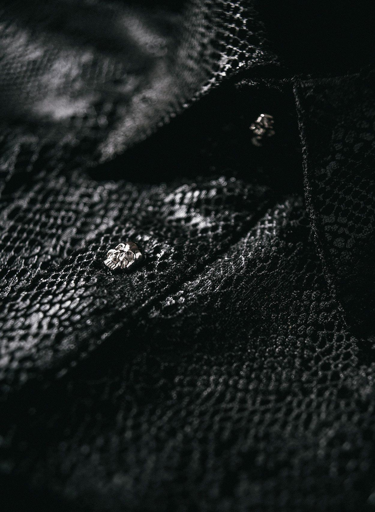 Black Snakeskin Skull Button Shirt-PhixClothing.com