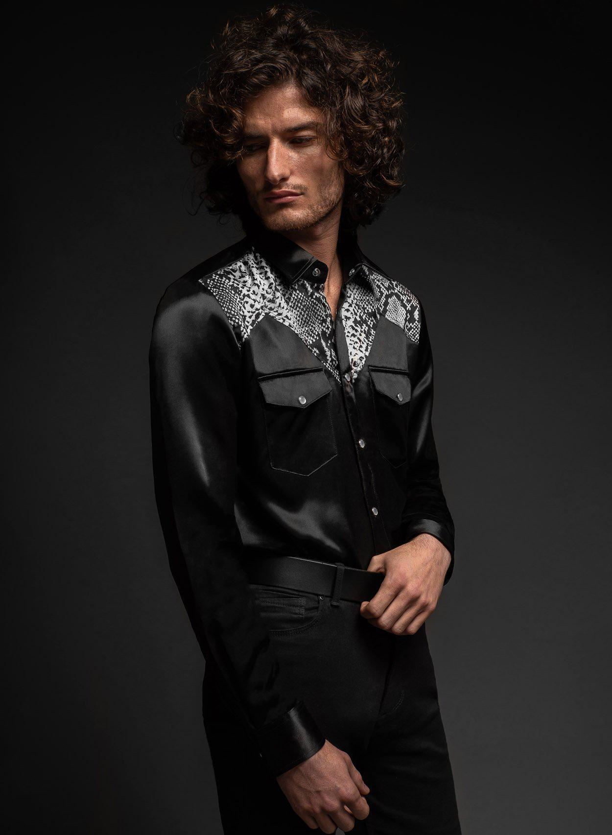Nevada Satin Shirt-PhixClothing.com