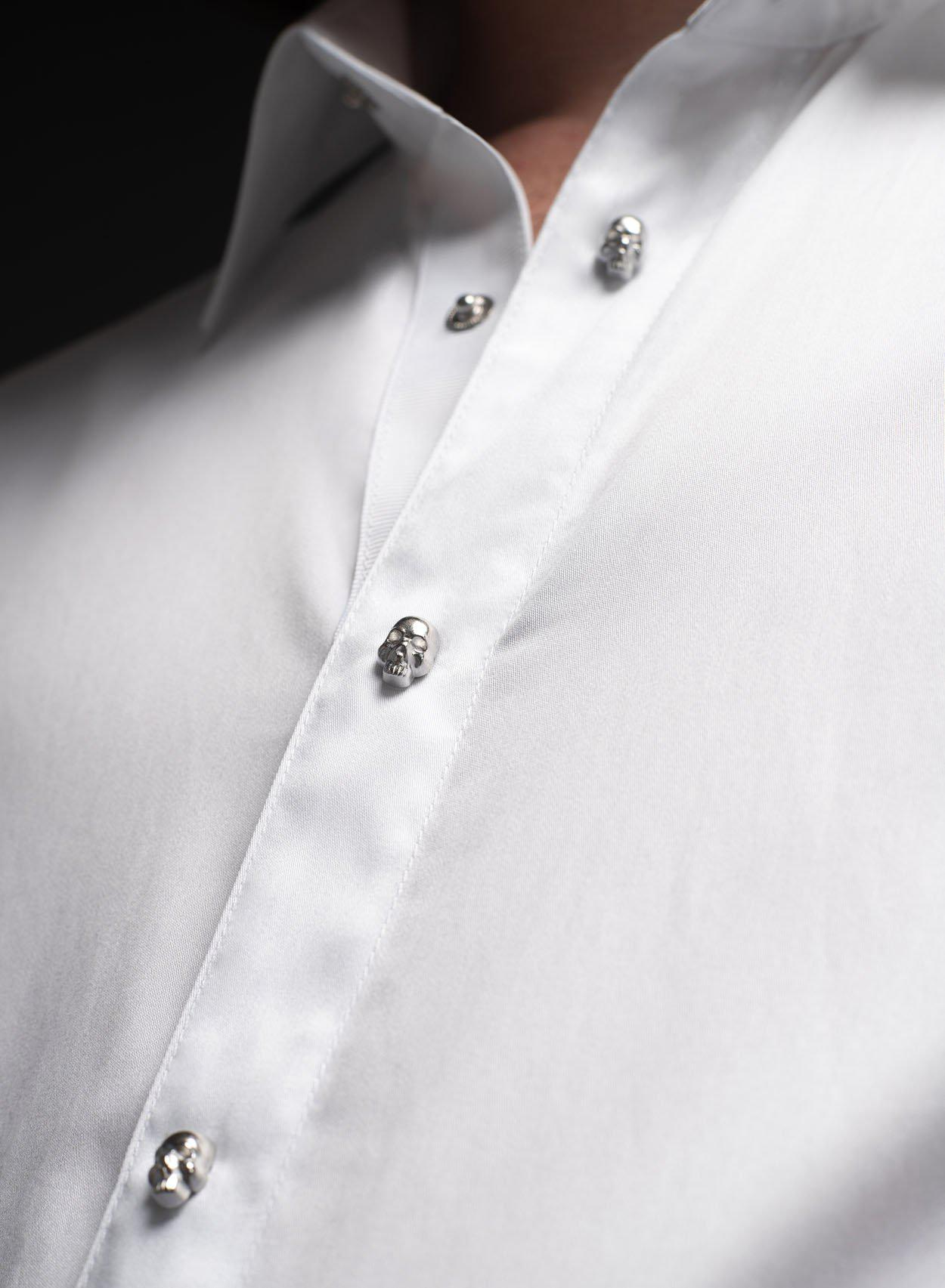 Monte Skull Button Cotton Shirt-PhixClothing.com