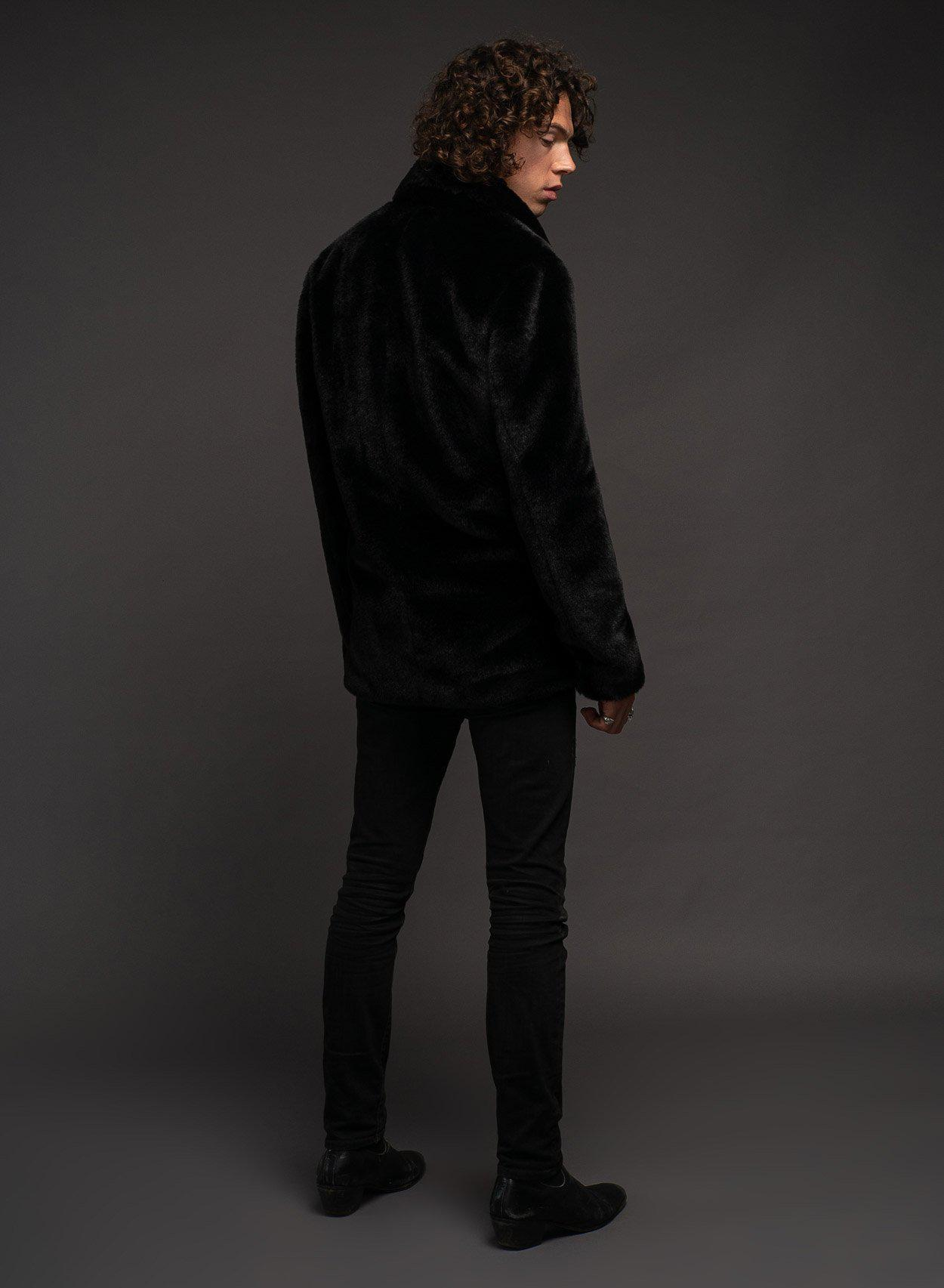 Jones Double-Breasted Faux Fur Coat-PhixClothing.com