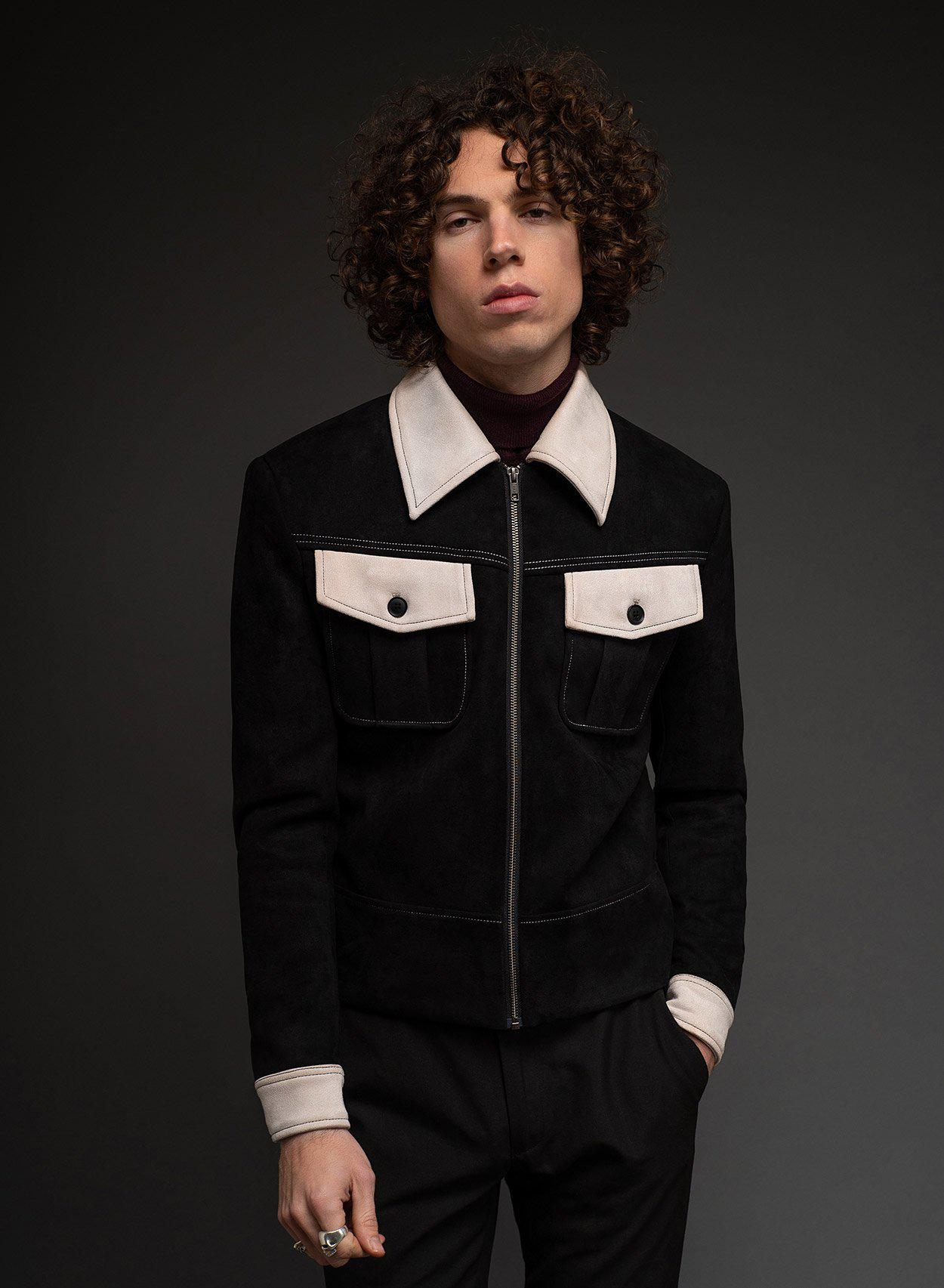 Kingly Black Jacket-PhixClothing.com