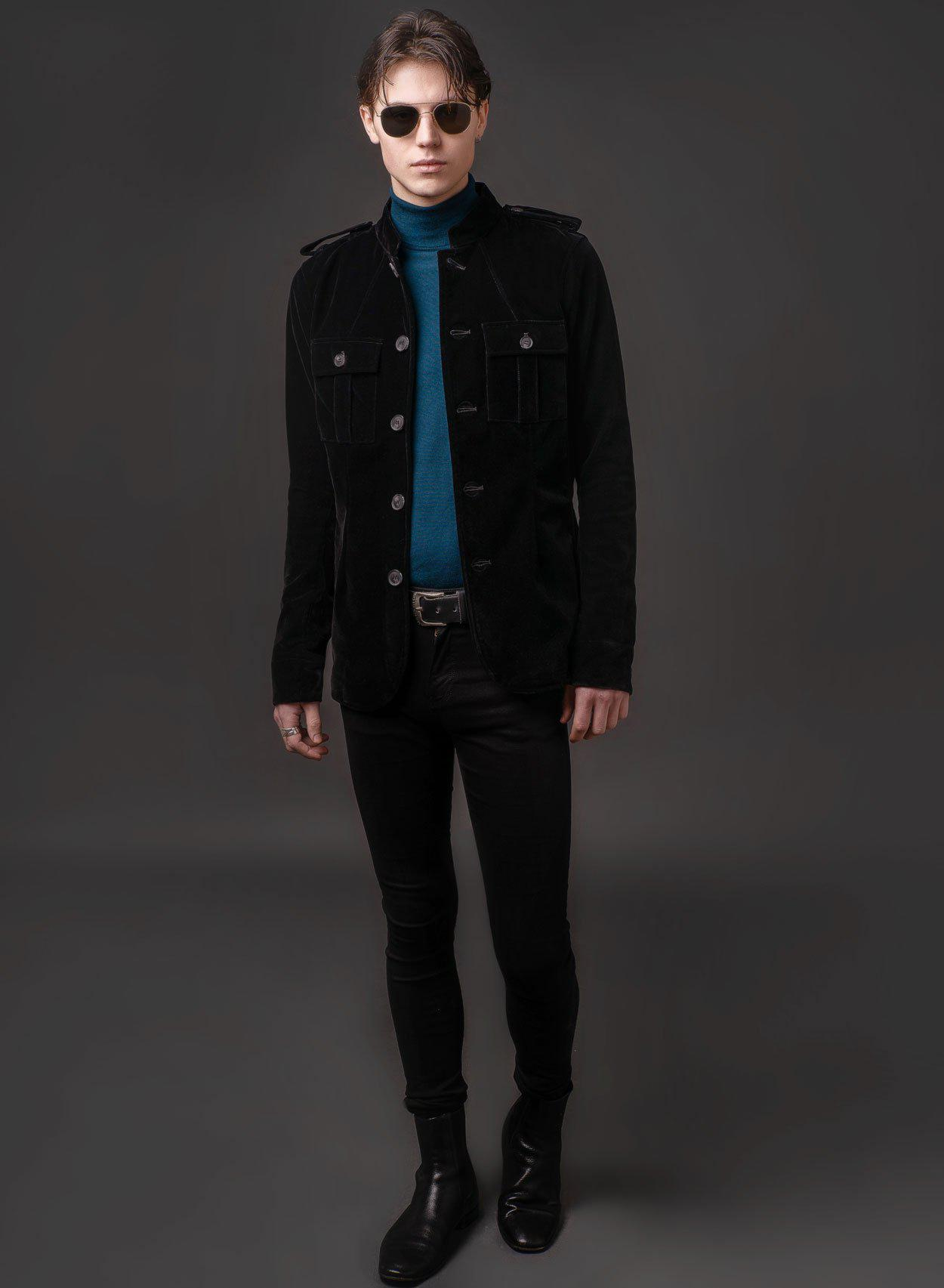 1962 Black Velvet Jacket-PhixClothing.com