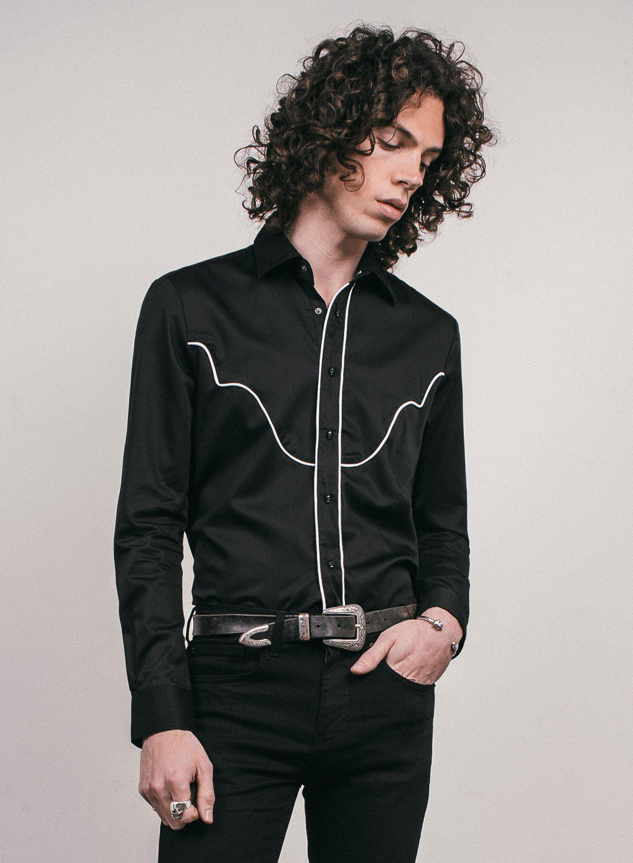 Western Skull Button Shirt-PhixClothing.com
