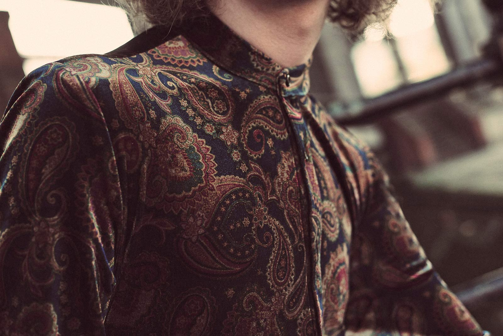 The Marriott Paisley Navy Velvet Shirt-PhixClothing.com