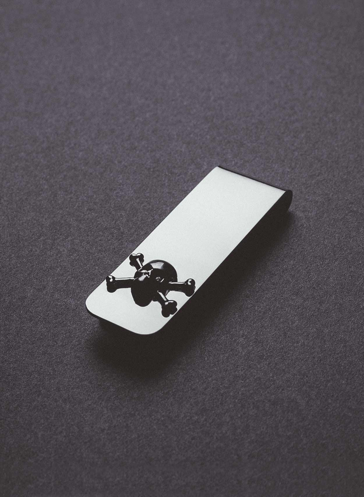 Silver Skull Money Clip-PhixClothing.com