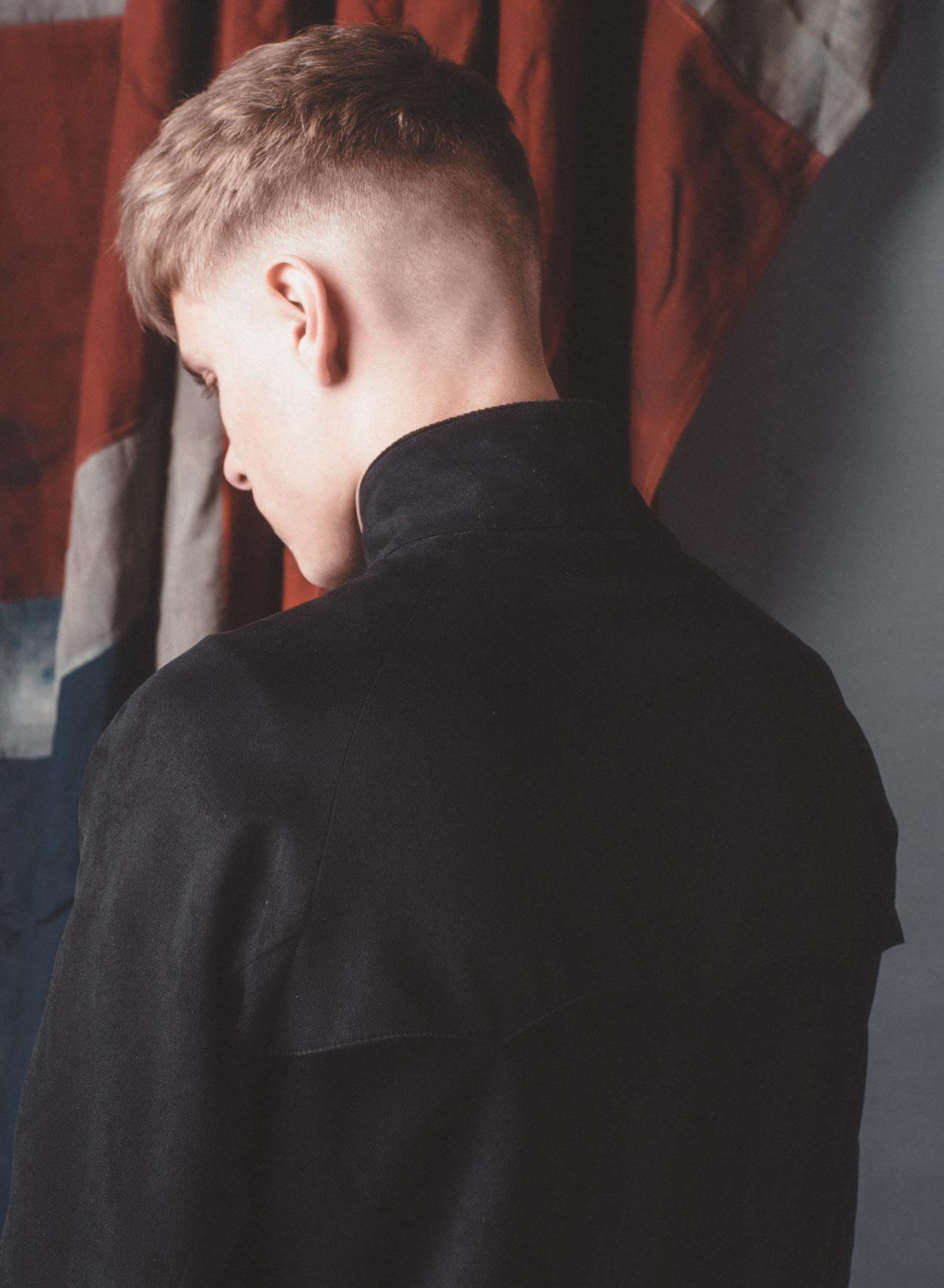 Stretford Black Faux Suede Harrington Jacket-PhixClothing.com