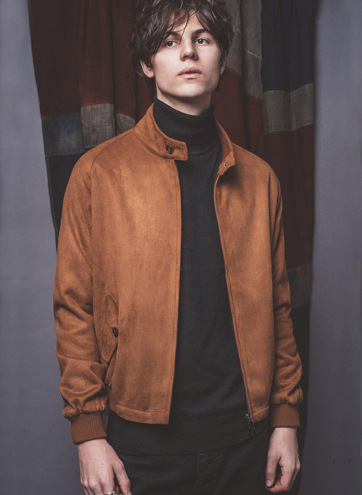 Stretford Suedette Harrington Jacket-PhixClothing.com