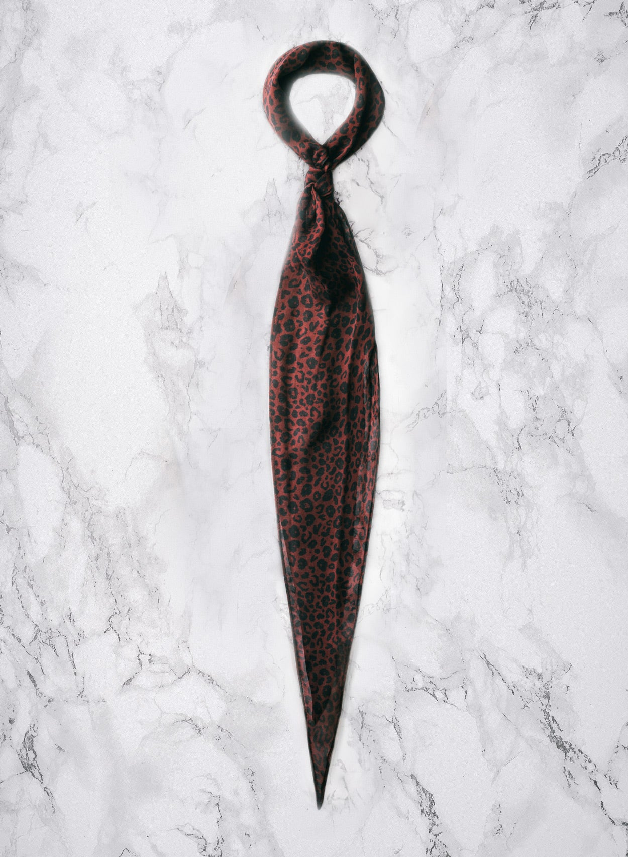 Silk Red Leopard Scarf-PhixClothing.com
