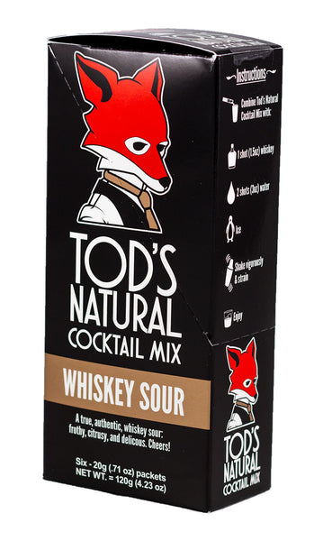 Tod's All Natural Cocktail Mix - Whiskey Sour (6-pack)
