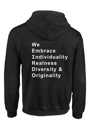 We Embrace Unisex Sweatshirt/Hoodie-White