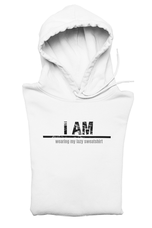 Customized I AM Sweatshirt-White