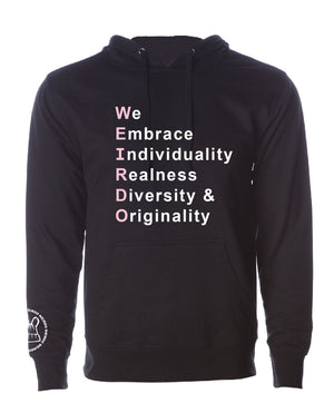We Embrace WEIRDO-Unisex Sweatshirt/Hoodie-Pink