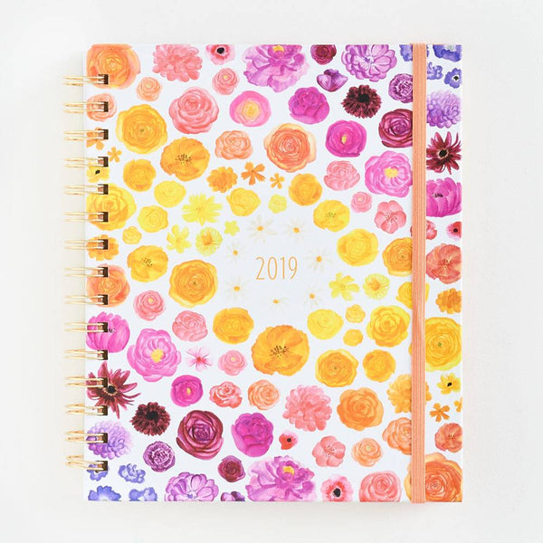 17-Month Rainbow Floral Planner
