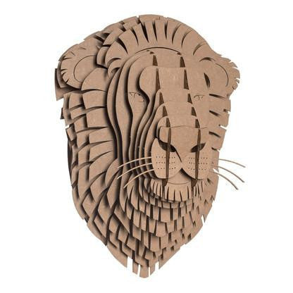 Cardboard Safari Animal Trophies | Leo Lion
