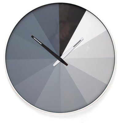 Kikkerland Ultra Flat Gray Scale Wall Clock
