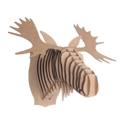 Cardboard Safari Animal Trophies | Fred Moose