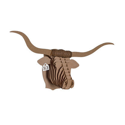 Cardboard Safari Animal Trophies | Tex Longhorn