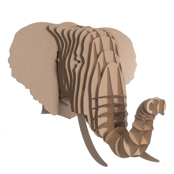 Cardboard Safari Animal Trophies | Eyan Elephant