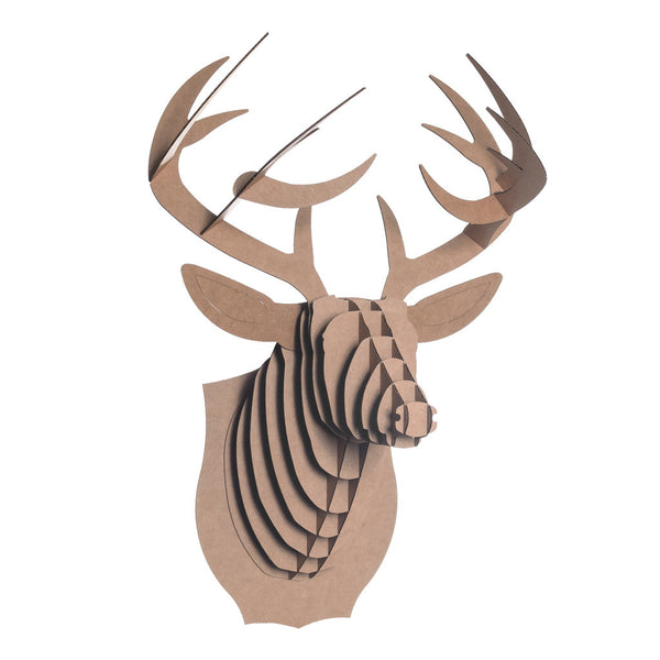 Cardboard Safari Animal Trophies | Bucky Deer