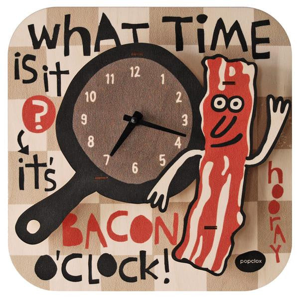 Perfect for the foodie in your life! Is a fun conversation piece in the kitchen too!  // Modern Moose Basic Clocks Made in the USA | Bacon Time $45