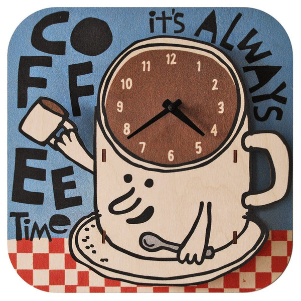 Perfect for the coffee lover in your life // Modern Moose Basic Clocks Made in the USA | Coffee Time $45