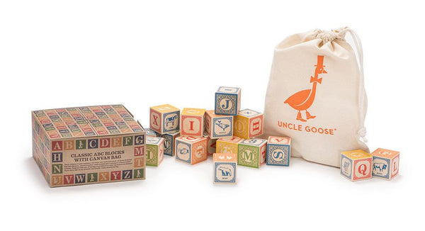 Uncle Goose | Classic ABC Blocks with Canvas Bag