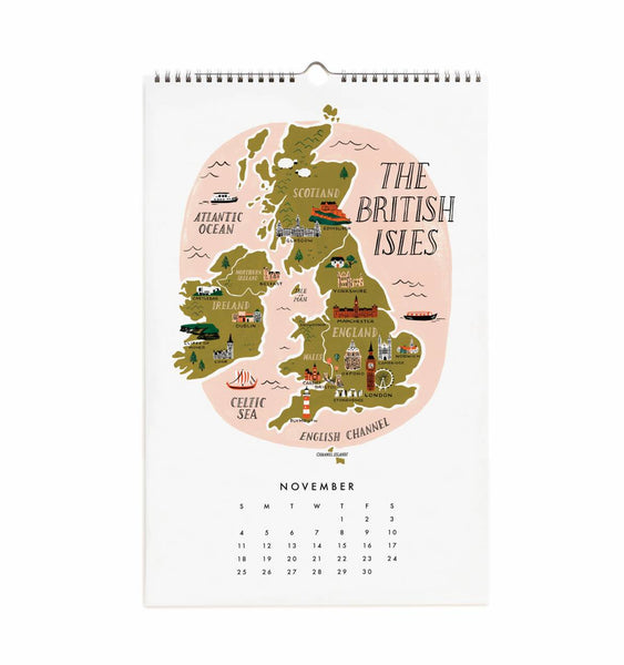 Rifle paper company maps of the world wall calendar 2018 shop poeme rifle paper company maps of the world wall calendar 2018 gumiabroncs