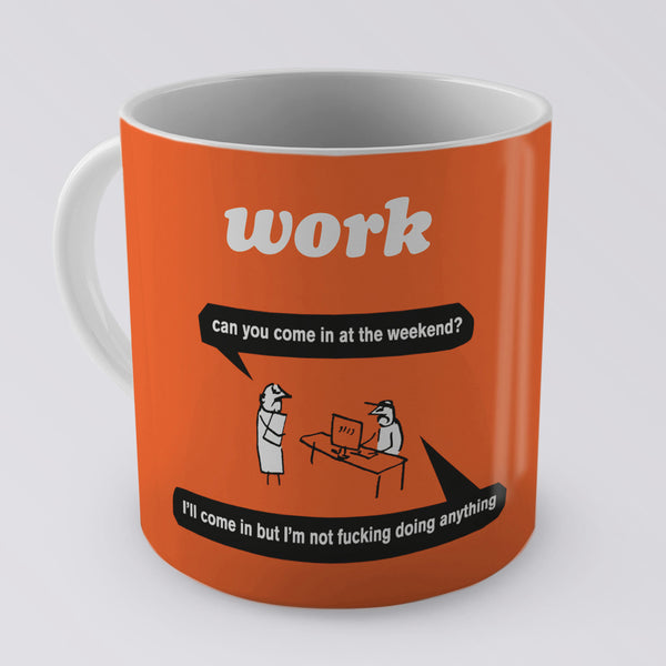 Modern Toss Mug | Work (orange)