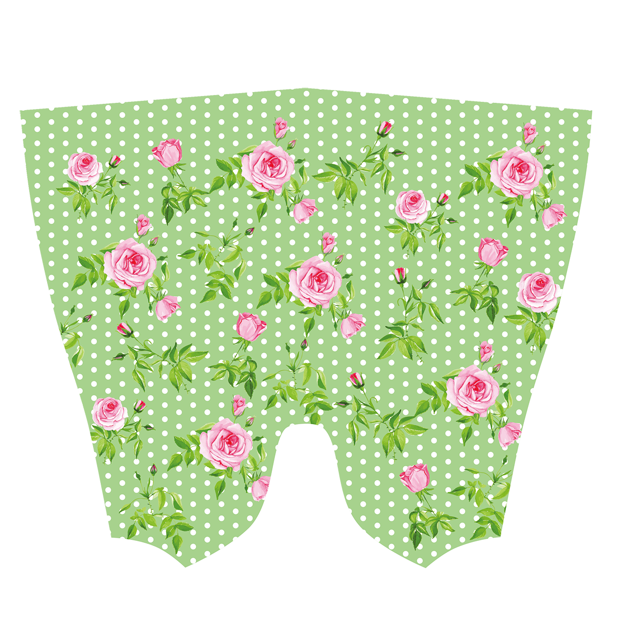 Green Polka Dot Roses