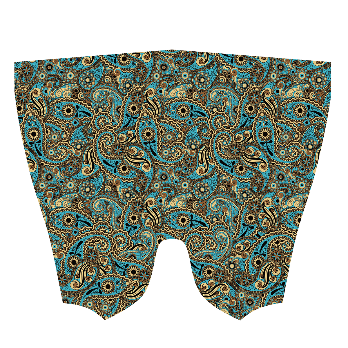 Blue & Gold Paisley