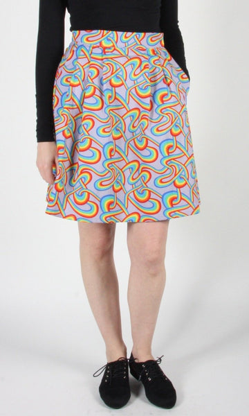 Akialoa Skirt - Rainbow Tangle