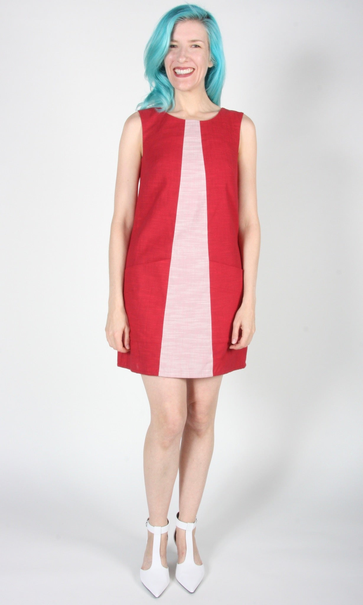 Antshrike Dress - Red and Pink
