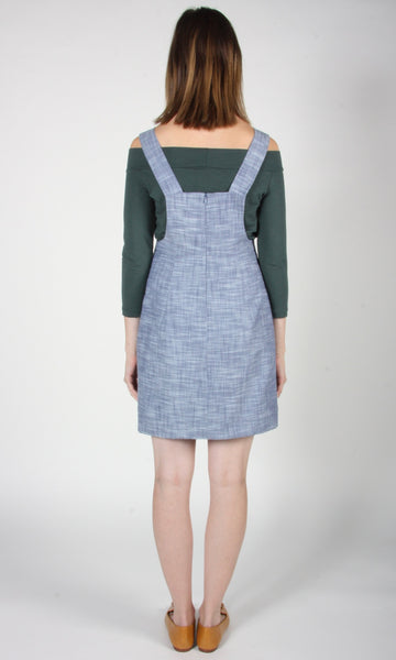 Swamphen Tunic - Blue Chambray